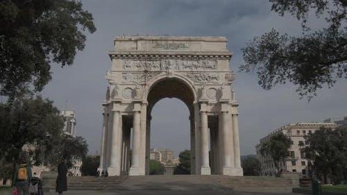 Victory Arch in Genoa
