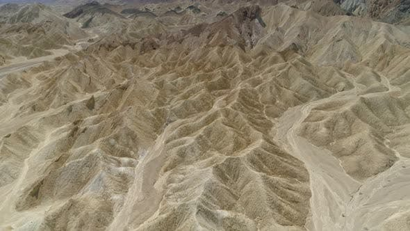 Thumbnail for Aerial view of mountain peaks in Death Valley