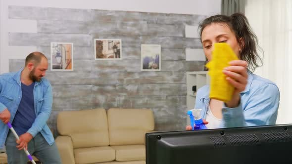 Thumbnail for Cleaning the TV Dust