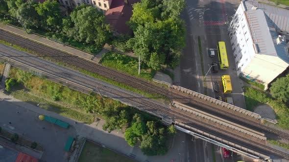 Thumbnail for Railway Cityscape Aerial