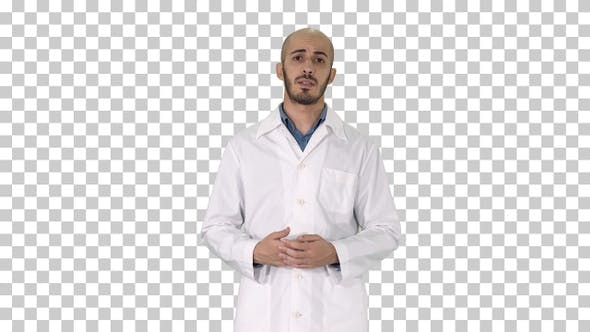 Thumbnail for Arabian Doctor Talking to Camera, Alpha Channel