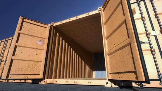 Thumbnail for Empty Shipping Container Doors Opening