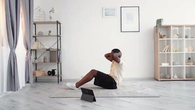 Hard Training Casual Black Man Sport Beginner