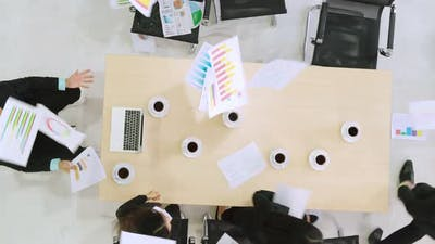 Angry Business People with Big Problem at Meeting