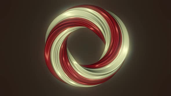 Animation of multi-colored swirling lines