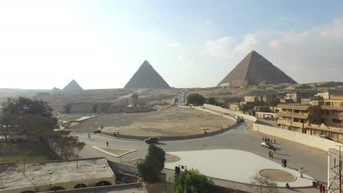 Beautiful Giza pyramids complex in Egypt