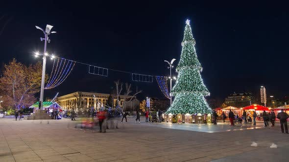 Thumbnail for Christmas Tree on the Square in the City