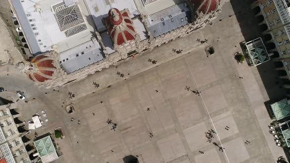 Thumbnail for Plaza Maria Pita Top View, A Coruna in Spain