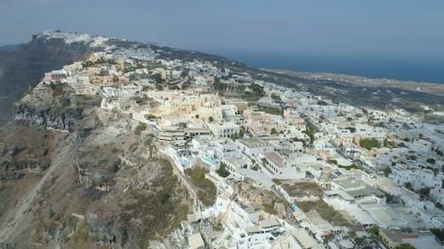 Aerial View of Famous Greek Resort Thira