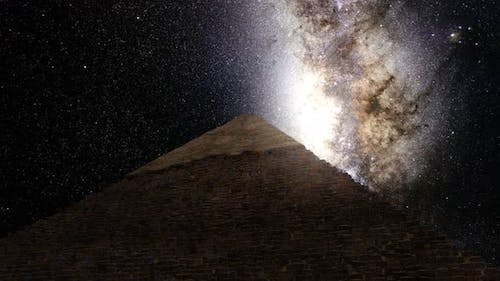 Great Pyramid Of Giza Milkyway Timelapse
