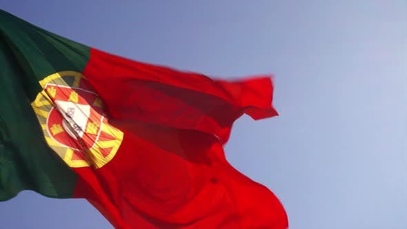 Thumbnail for Flag of Portugal Waving at Wind