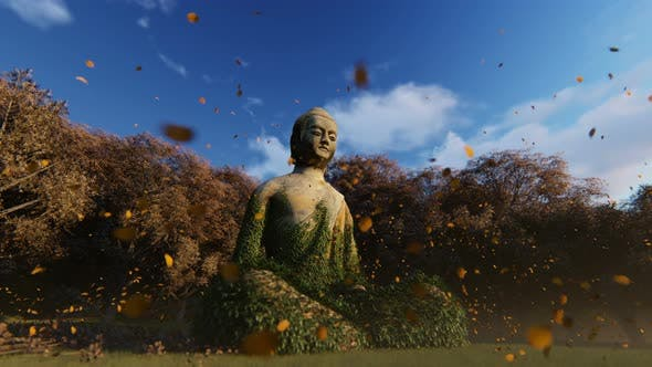 Thumbnail for 4K Buddha Statue in Nature