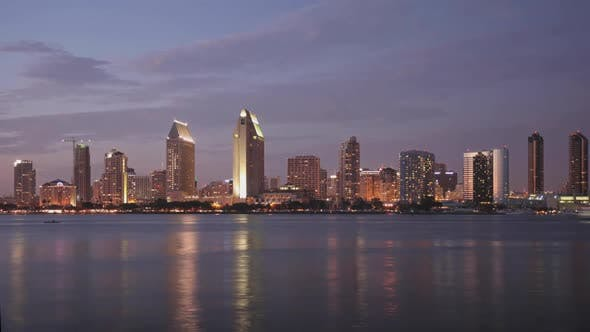 Thumbnail for San Diego Skyline Time Lapse