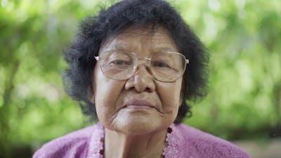 senior woman with eyeglasses