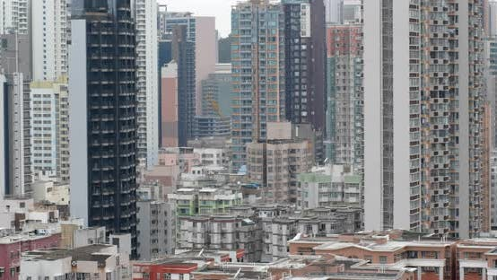 Thumbnail for Hong Kong city with residential building