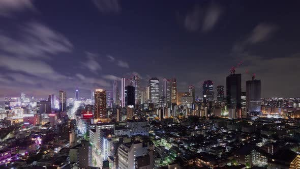 Thumbnail for Time Lapse of the skyline of the Shinjuku district of Tokyo Japan