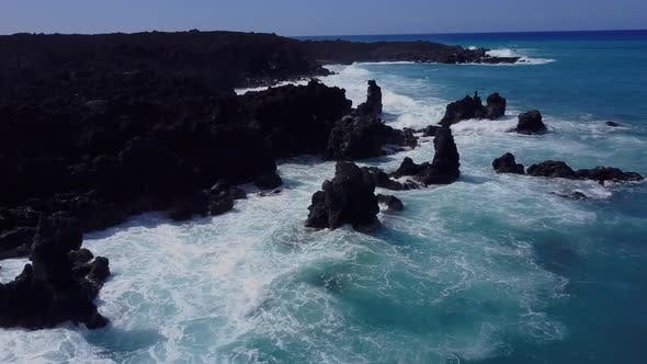 Thumbnail for Flying Over The Rugged Coastline Of Hawaii