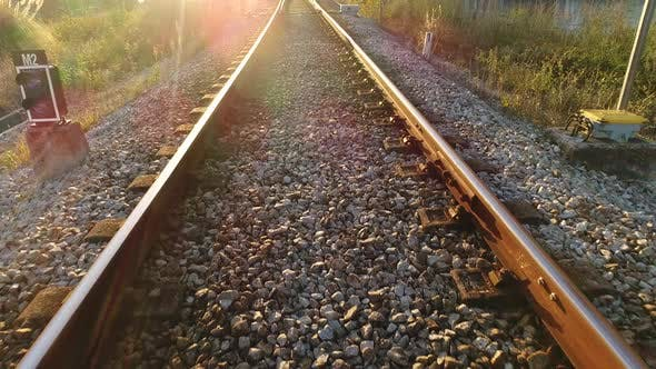 Thumbnail for Railroad with Sun Rays