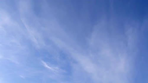 Cirrus Clouds on the Blue Sky.