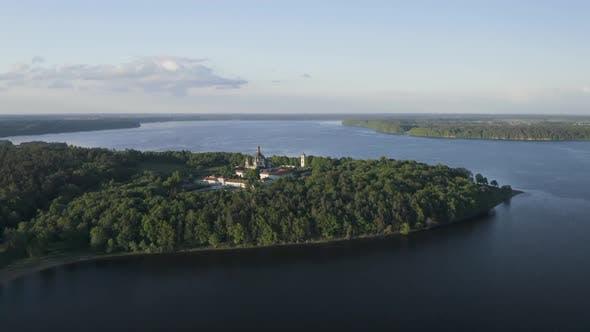 Pazaislis Monastery and Church near Kaunas Lake