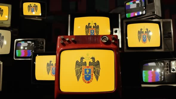 Thumbnail for Flag Of Lima, Peru, and Retro TVs.