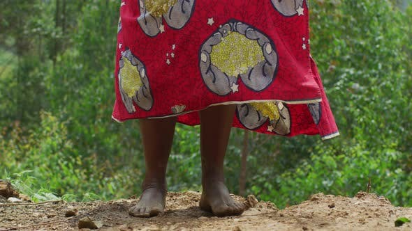 Thumbnail for Barefoot woman jumping