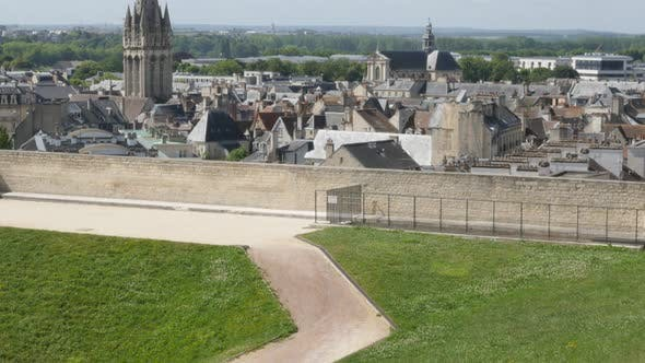 Thumbnail for Calvados capital Caen in France cityscape 4K 3840X2160 UltraHD 30fps tilting footage - City of Caen