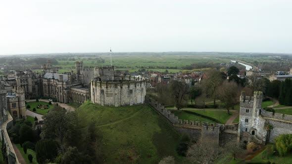 Medieval Fort Aerial Drone 4K