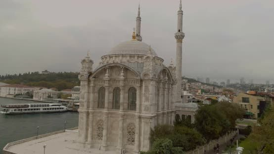 Thumbnail for Istanbul Ortakoy Mosque And Bosphorus Aerial View 2