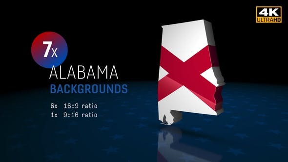 Thumbnail for Alabama State Election Backgrounds 4K - 7 Pack