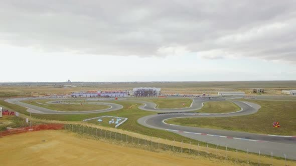 Thumbnail for AERIAL VIEW. Russian Karting Championship On Yevpatoriya Route