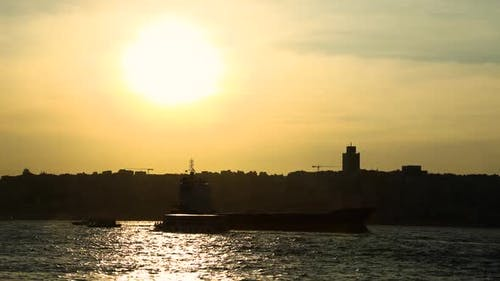 Freighter Sunset