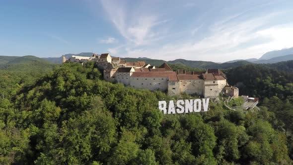 Aerial of Rasnov Citadel