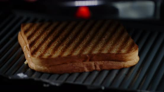 Thumbnail for Roasted Bread for English Breakfast. On a Black Background.