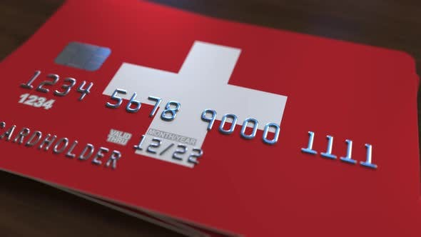 Thumbnail for Bank Card with Flag of Switzerland