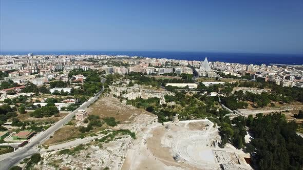 Thumbnail for Big Modern City Near Old Ancient Greek Theatre
