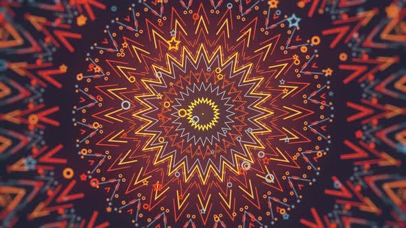 Thumbnail for Colorful Kaleidoscope Ornament