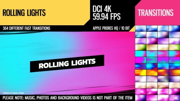 Rolling Lights (4K Transitions)