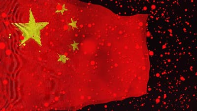 Chinese Flag Particle Animation