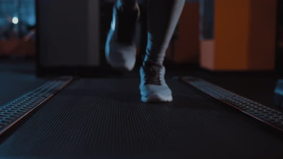 Running in Sneakers on a Treadmill