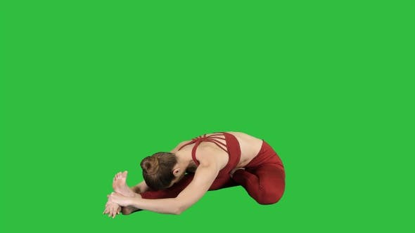 Thumbnail for Young attractive woman practicing yoga sitting in Head