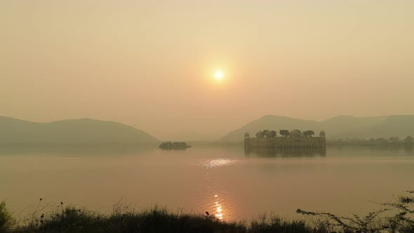Thumbnail for Jal Mahal Meaning Water Palace Is a Palace in the Middle of the Man Sagar Lake