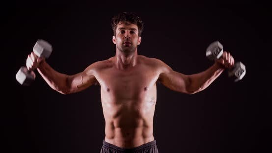 Thumbnail for Athletic Male Fitness Training Workout
