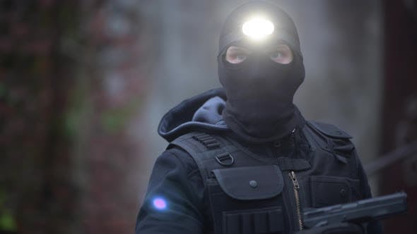 Police Top Secret Operation. Counter Terrorist in His 30s