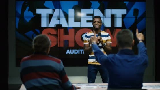Thumbnail for Young Man Singing at Talent Show