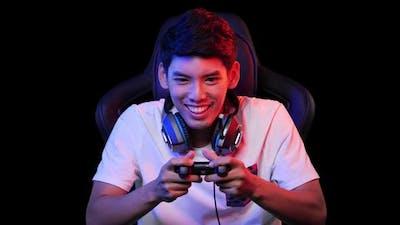 Man playing game