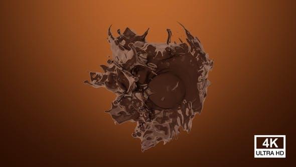 Chocolate Drop Splash In Sphere 4K
