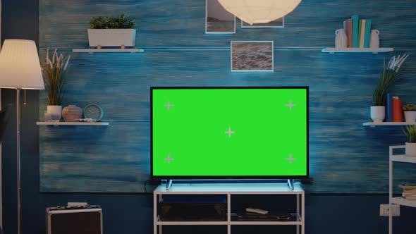 Nobody with Green Screen Technology on Display