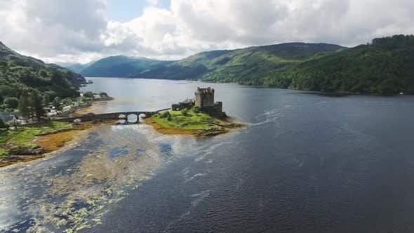 Thumbnail for Aerial Video Of Eilean Donan Castle In Scotland