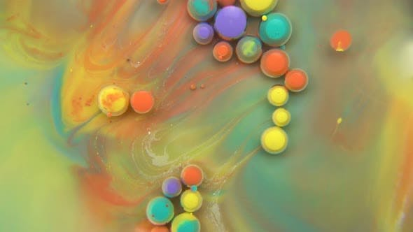 Cover Image for Mixture Of Paints With Bubbles